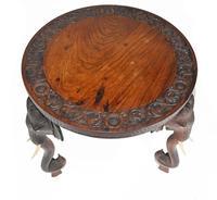 Carved Burmese Table Elephant Legs Antique Burma Furniture (10 of 10)