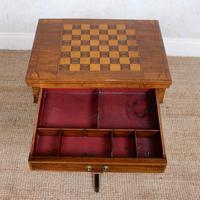 Rosewood Games Table Chess Board Folding Card Table 19th Century (5 of 16)