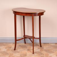 Edwardian Inlaid Mahogany Kidney Shape Occasional Table (9 of 15)