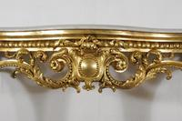 19th Century Gilt Console Table with Marble Top (7 of 17)