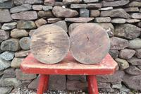 Pair of Swedish 'Folk Art' Large Over-sized Wooden Painted Candlesticks 20th Century (17 of 17)