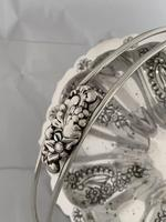 Edwardian Antique Silver Swing Handle Fruit Bowl / Basket 1905 Birmingham (7 of 12)