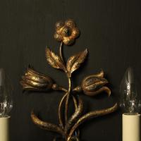 Florentine Pair of Toleware Twin Arm Wall Lights (4 of 10)