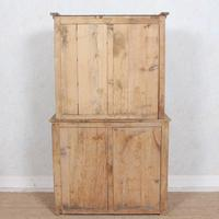 Arts & Crafts Pine Glazed Bookcase School Display Cabinet Dresser (11 of 12)