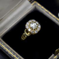 Antique Victorian Old Cut Diamond Cluster 18ct 18K Yellow Gold Ring 1.0ct total (9 of 9)