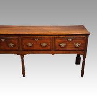 George III Long Oak Dresser Base (10 of 14)