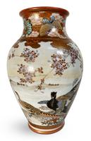 Meiji Period Kutani Vase Decorated with Geese (3 of 6)