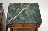 Pair of Georgian Style Marble Top Bedside Cabinets c.1930 (8 of 10)