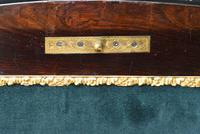 Fine Quality 19th Century French Ebonised & Amboyna Serpentine Sewing Table (12 of 21)