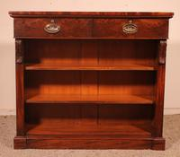 19th Century Mahogany Open Bookcase with Two Drawers (2 of 12)