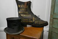 Edwardian Shoe Shop or Cobblers Trade Sign, Leather Boot Display Model (8 of 11)