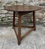 Antique Georgian Oak Cricket Table (2 of 15)