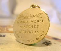 Pocket Watch Chain Ingersoll Mickey Mouse Fob 1930s Original Brass Fob (8 of 8)
