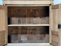 Wonderful French Empire Period Bleached Oak Linen Press (19 of 32)