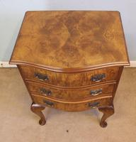 Small Burr Walnut Shaped Front Chest of Drawers (3 of 8)