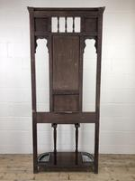 Antique Edwardian Mahogany Mirror Hall Stand (9 of 9)