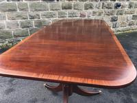 Antique Mahogany Twin Pillar Extending Dining Table (6 of 9)