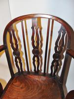 Georgian Yew-wood Windsor Elbow Chair (6 of 7)