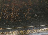 Antique Writing Table with Drawers and Aged Leather Top (11 of 19)
