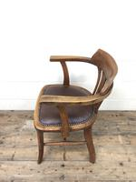 Pair of Early 20th Century Oak & Leather Desk Chairs (4 of 10)