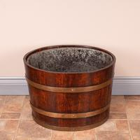 Pair Of Large Oval Oak Brass Bound Log Buckets (14 of 21)