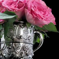 Georgian Solid Silver Loving Cup / Two Handled Cup - London 1748 (12 of 28)