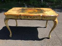 Antique Venetian Polychrome Painted Coffee Table (9 of 9)