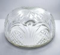 Edwardian 1905 Solid Sterling Silver Mounted Cut Glass Large Fruit Bowl Dish English Antique (7 of 7)