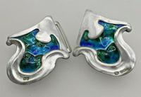 Art Nouveau Silver Enamelled Belt Buckle Kate Harris for William Hutton 1903 (2 of 6)