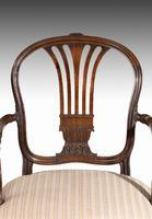 Pair of George III Period Mahogany Elbow Chairs by Robert Manwaring (5 of 7)