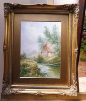 Watercolour Bates Brook Redhill Listed Artist H Rawson (12 of 12)
