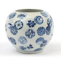 Chinese Blue & White Porcelain Globular Vase (6 of 6)