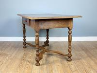 19th Century Single-Drawer Serpentine Stretcher Dining Table (5 of 8)
