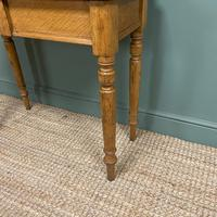 Quality Victorian Golden Oak Antique Hall Table (6 of 7)