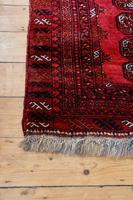 Handmade Bokhara wool rug vibrant red ground (2 of 11)