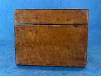 Victorian Burr Maple, Mahogany & Walnut Box (10 of 11)