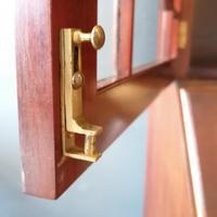 Victorian Mahogany Glazed Bookcase / Bureau with pigeon holes (5 of 14)