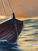 """Seascape Oil Painting """"St Ives Fishing Boat"""" Off Cornwall Coast by Keith English (6 of 36)"""