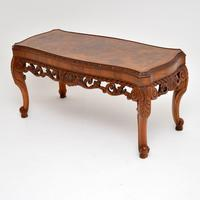 Antique Burr Walnut Coffee Table (3 of 9)