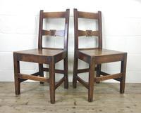 Pair of Antique Oak Bar Back Farmhouse Chairs (14 of 14)