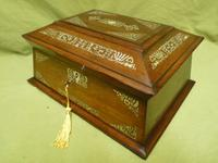Large Inlaid Rosewood Jewellery / Table Box c.1835 (12 of 12)
