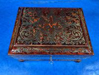 English Boulle & Brass Kingwood Edged Jewellery Box (6 of 16)