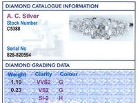 1.33ct Diamond & Platinum Dress Ring (6 of 9)
