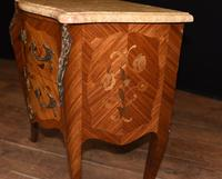 Antique French Commode Nightstand - Bombe Chest (5 of 8)
