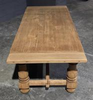 Large Refectory Bleached Oak Farmhouse Table (9 of 17)
