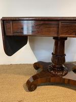 George IV Rosewood Pedestal Sofa Table (4 of 14)