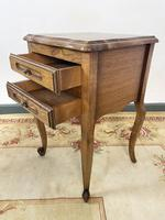 Vintage French Pair of Louis Style Bedsides Tables Oak Cabinets (9 of 12)