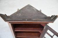 Small Antique Astragal Wall Hanging Cabinet (8 of 11)