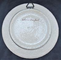 Hand Painted Copeland Art Pottery Decorative Plate, Dobbin's Breakfast, c1870 (5 of 5)