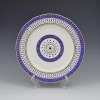 18th Century Sevres Porcelain Sauciere A Deux Sauceboat & Plate Pois Bleu 1788 (16 of 20)